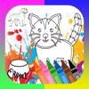 собаки кошки книжка-раскраска забавная для детей