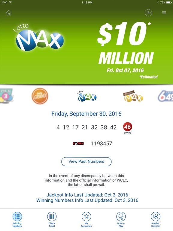 lotto results app for ipad