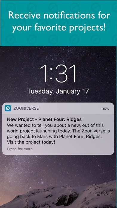 Screenshot 2 for Zooniverse's iPhone app'