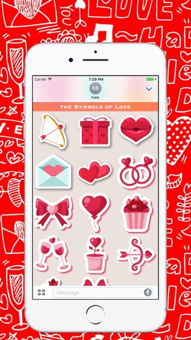 День Святого Валентина - Стикеры для iMessageСкриншоты 3