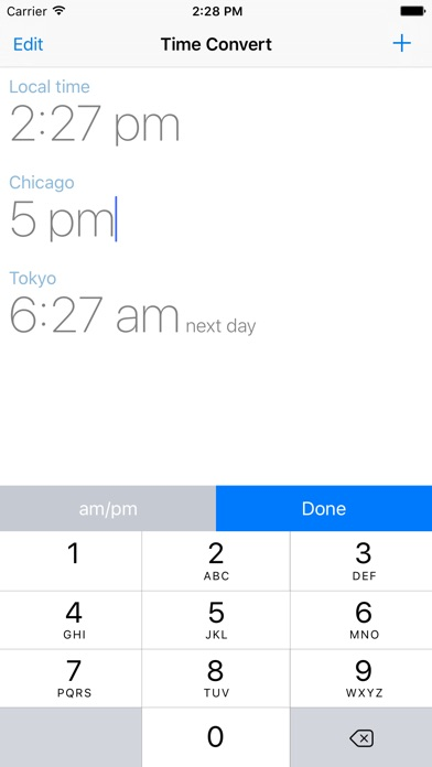 The Time Zone Converter App Screenshots