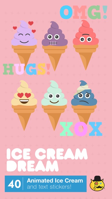 Cute animated ice cream