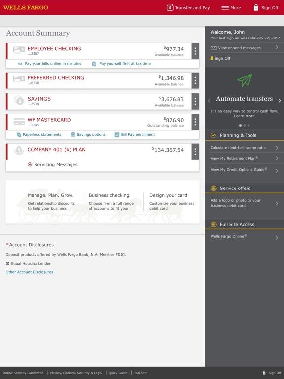 iPad Screenshot 2 : wiring money wells fargo - yogabreezes.com