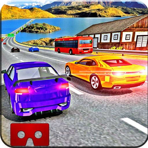 VR Modern Traffic Car Racing Game