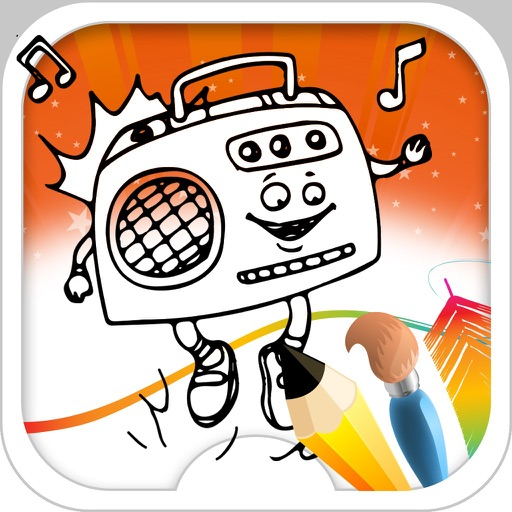 Music Coloring Book iOS App