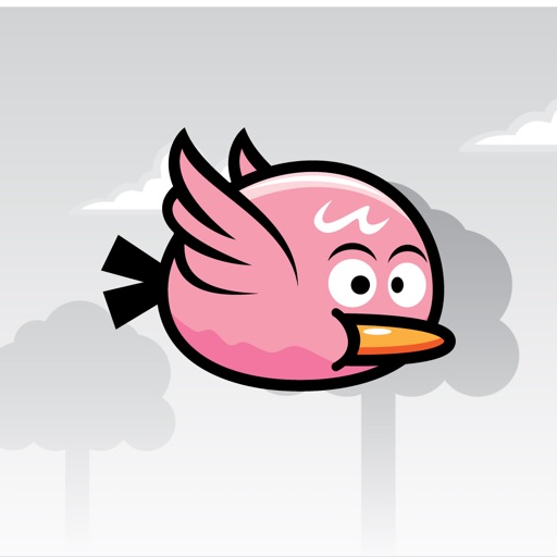 Bouncy Bird - pink bird Icon
