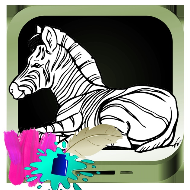 'Zebra Drawing Game For Kids' in de App Store