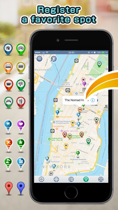 Assist Maps - закладки на картах , улица панорамаСкриншоты 1