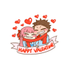 Valentine's Day for Crazy Couple Stickers Wiki