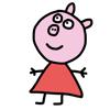 Colorear Pepa Pig para los niños