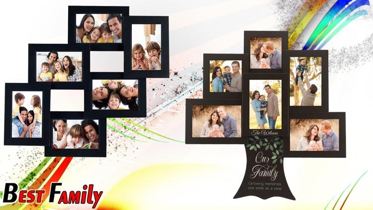 Family Photo frame editor :Family Square Pic Frame by jitendra khunt