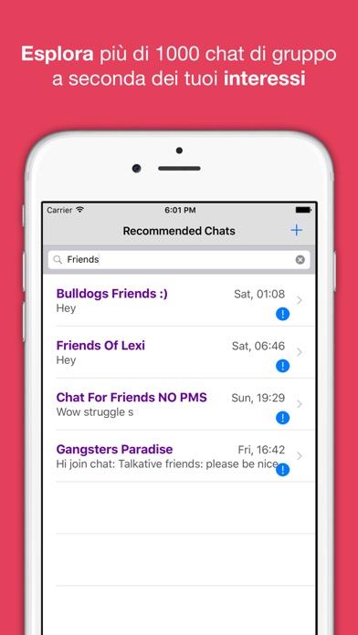 Screenshot of Chat anonima – AntiChat app3