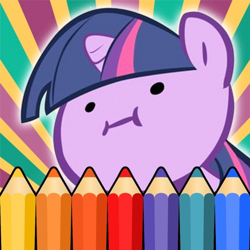 Cute Princess Pony Coloring Game for Little Girls iOS App