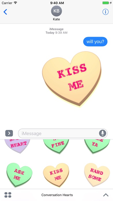 Screenshot #9 for Conversation Hearts XOXO