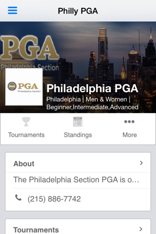 Philadelphia PGA screenshot 1