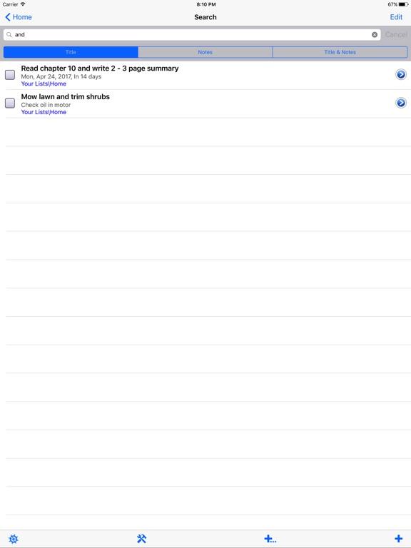 Screenshot #4 for List!