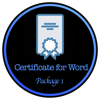Certificate Design for Word