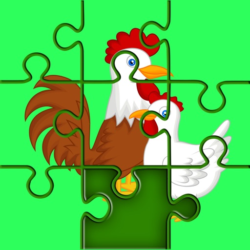 Chicken Jigsaw Puzzle for Little Kids iOS App