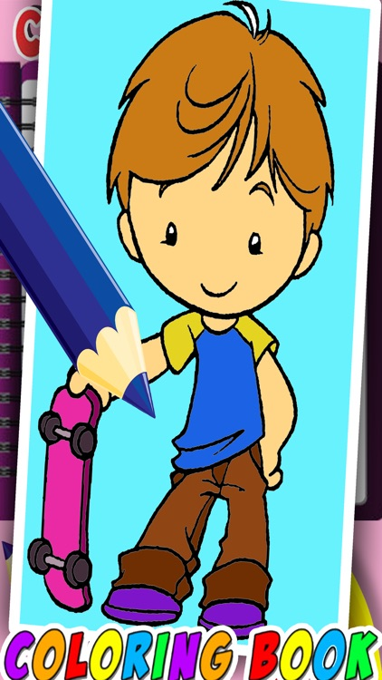 Best Coloring Page Game For Harry Boy Version by Takol Wang