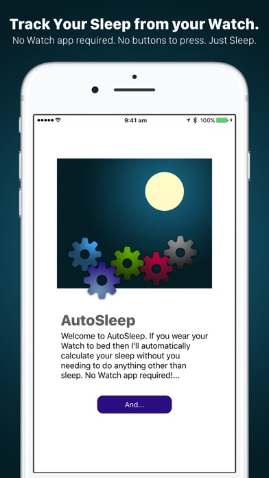 AutoSleep. Auto Sleep Tracker for Watch Screenshot