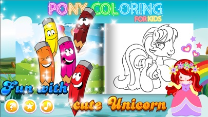 Screenshot of Pony Coloring Books : New Painting Pages1