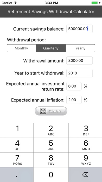 Retirement Savings Withdrawal Calculator On The App Store