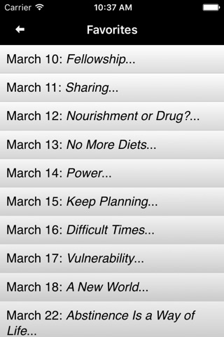 Food for Thought: Daily Meditations for Overeaters screenshot 4