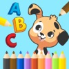 Learn ABC Animals Alphabet and Coloring Page Kids
