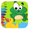 Frog And Duck Coloring Book Game Education education