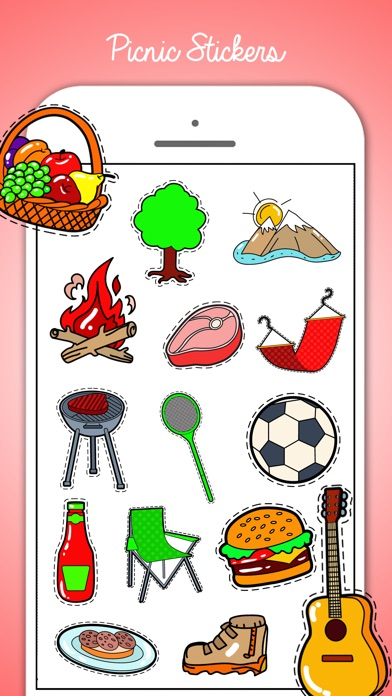 Picnic & Fun Loving Stickers screenshot 3