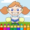 Page Pretty Cheerleader Coloring Game For Children
