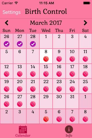 Birth Control Pill Reminder screenshot 1