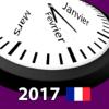 Calendrier 2017 Fériés France AdFree