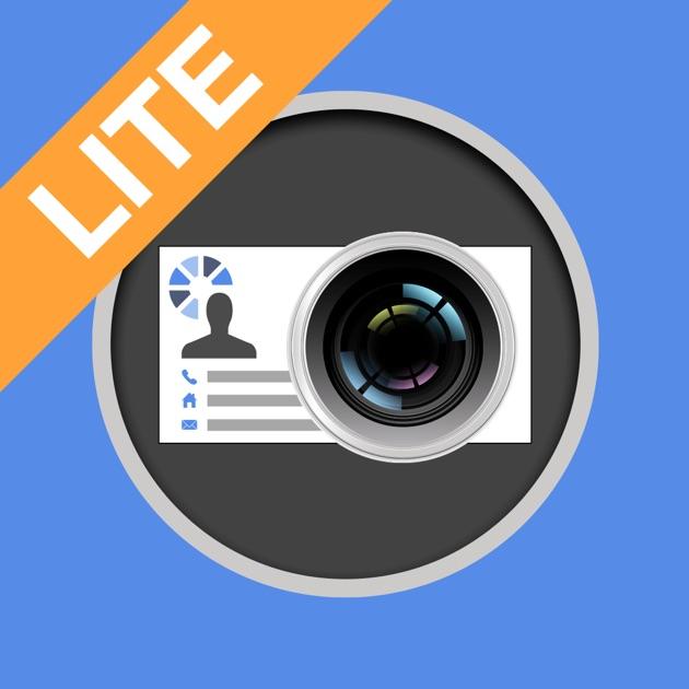 ScanBizCards Lite Business Card Scanner Reader on the