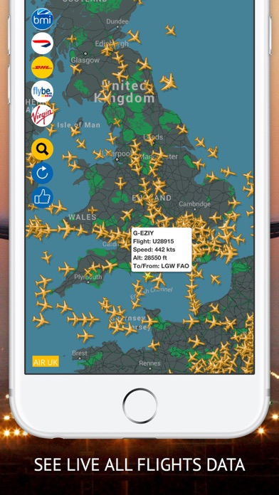 air uk free live flight tracker app download android apk. Black Bedroom Furniture Sets. Home Design Ideas