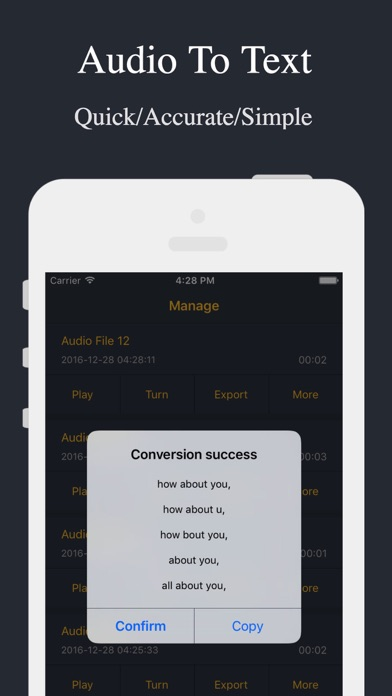 Screenshots of Audio Recorder - Voice Recorder for iPhone