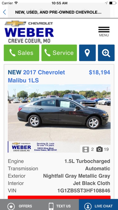 Screenshot of Weber Chevrolet4