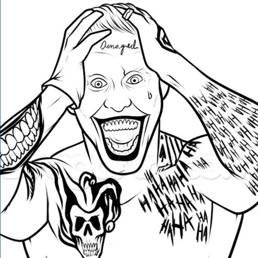 Coloring Pages For Suicide Squad Edition IOS App