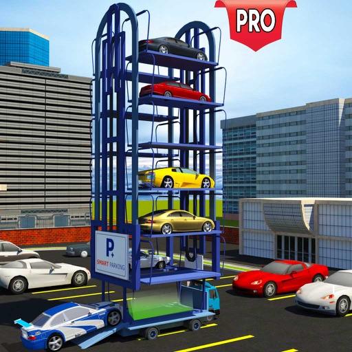 Multi Level Car Parking Crane Driver Simulator PRO iOS App