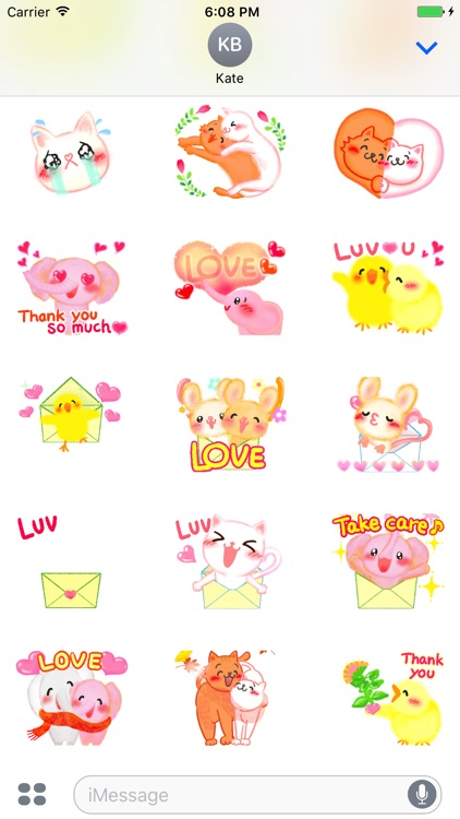 Love family animated stickers