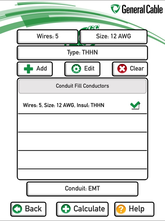 Conduit fill chart by pdq industrial electric nj pa de md dc general cable conduit fill calculator on the app store keyboard keysfo Image collections