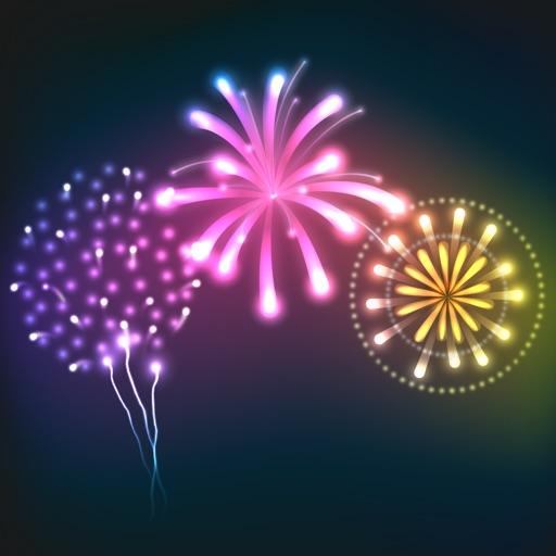 Animated Fireworks Celebration Stickers Per ANNAMIND PTY LTD