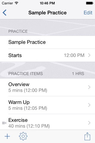 InfiniteTrack Practice Planner screenshot 2