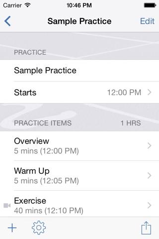 InfiniteTrack Practice Planner screenshot 2