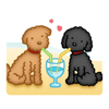 Summer Vacation of Black Toy Poodle Dog Sticker Wiki