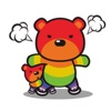Rainbow Mother Bear Stickers