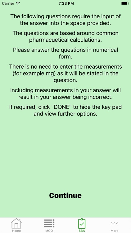 Pharmaceutical Calculations Quiz by Green Cross Apps