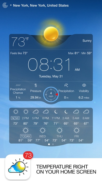 Screenshot #6 for Weather Live - Weather Forecast, Radar and Alerts