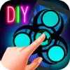 Craft Neon Fidget Spinner - do it yourself