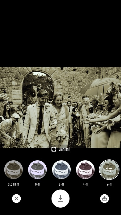 Screenshot of Fotocamera Tiramisu - Filtro Bianco e Nero5